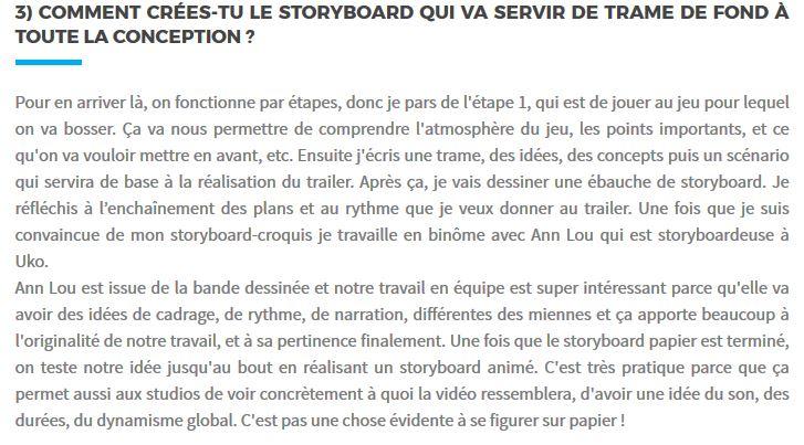 a longer story interview uko creative trailer creation création de trailer jeux vidéo video games gaming jobs